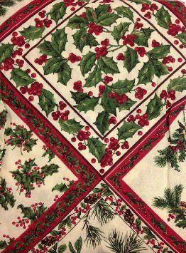 April Cornell Christmas Tablecloth