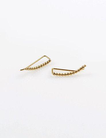 Beaded Ear Pin Gold