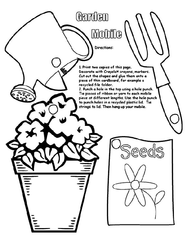 garden mobile coloring page
