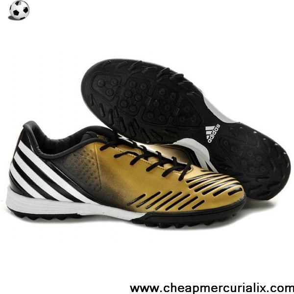 Buy 2013 New Adidas Predator Absolado LZ TRX Turf Shoes Gold white black Soccer Boots For Sale