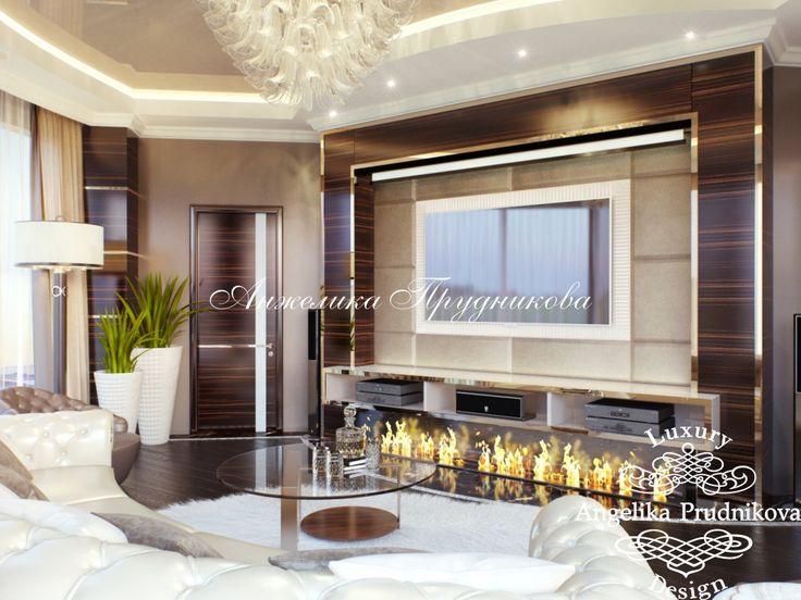 Дизайн интерьера пентхауса с лестницей в ЖК Дубровка в стиле Модерн