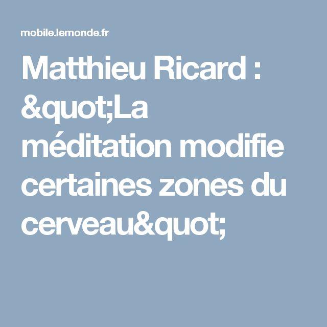 """Matthieu Ricard : """"La méditation modifie certaines zones du cerveau"""""""