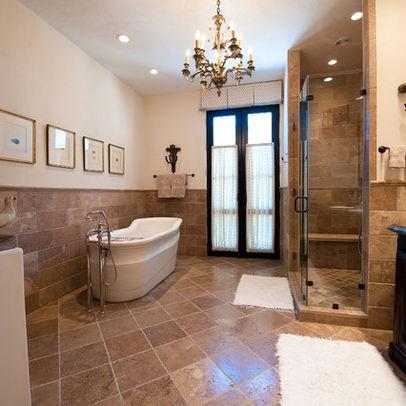 Mediterranean Bathroom Love The Tile   Floor U0026 Wall