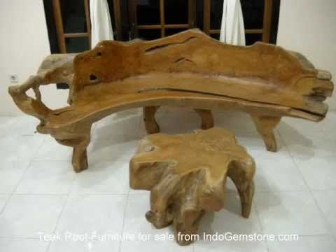 teak root furniture, teak root bench, teak root furniture