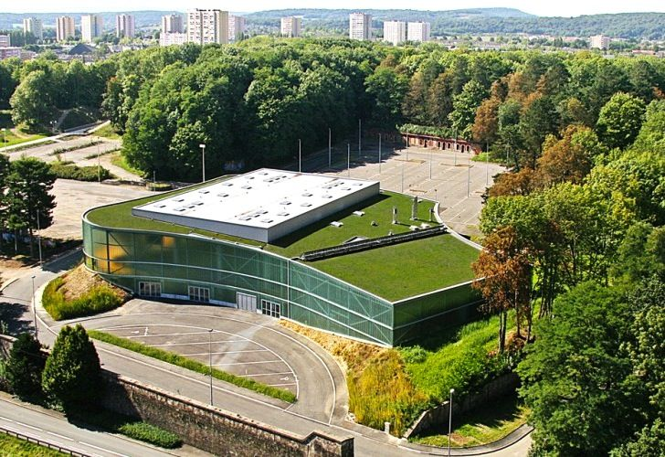 Green-Roofed Belfort Sports Center is a New Urban Catalyst in France | Inhabitat - Green Design, Innovation, Architecture, Green Building