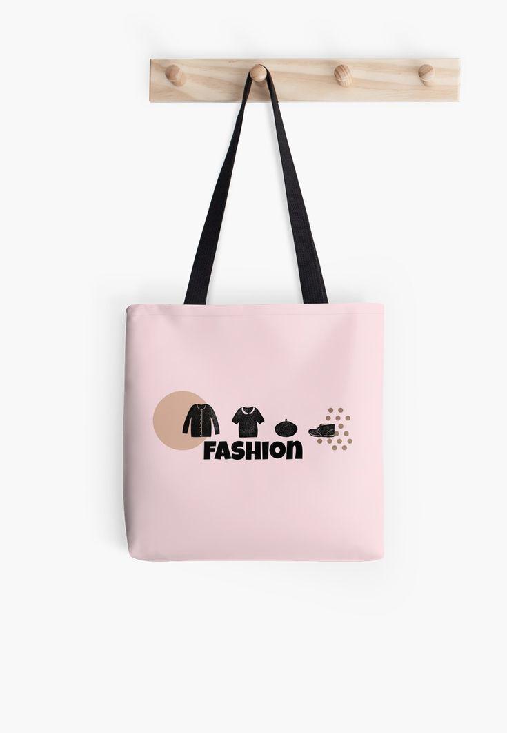 Just Fashion Glamour Pink ToteBags by LisaLiza. #pink #fashion #minimalist #girly #sweet #totebag #redbubble