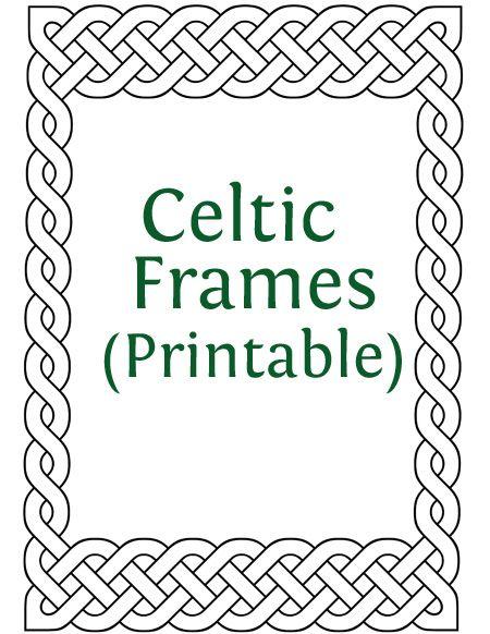printable celtic frames more