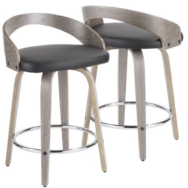You Ll Love The Wright 24 Swivel Bar Stool At Wayfair Great Deals On All Furniture Products W Leather Counter Stools Modern Counter Stools Modern Bar Stools