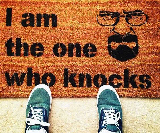 "I Am The One Who Knocks Doormat -- Add an paradoxical feeling to your ruse house by accenting it with this stunning ""I Am The One Who Knocks"" doormat. The optimal offering for any vicious authority architecture entrepreneur, it's made from eco-friendly stuff and works bad with private use."