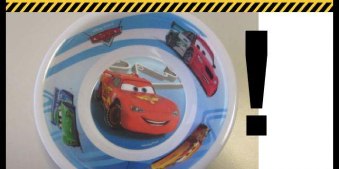 Coop ritira scodelle per bambini con i personaggi del film Cars della Disney Pixar per migrazione di melamina