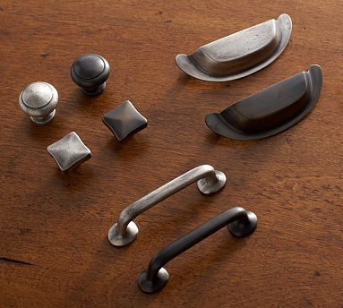 New Kitchen Hardware Pitted Hardware #potterybarn