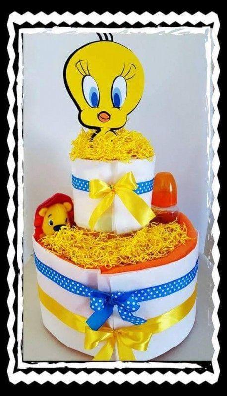Τον λατρέψαμε! Μια τούρτα-πάνα ή αλλιώς diapercake με τον Tweety! Σπεύσατε!!