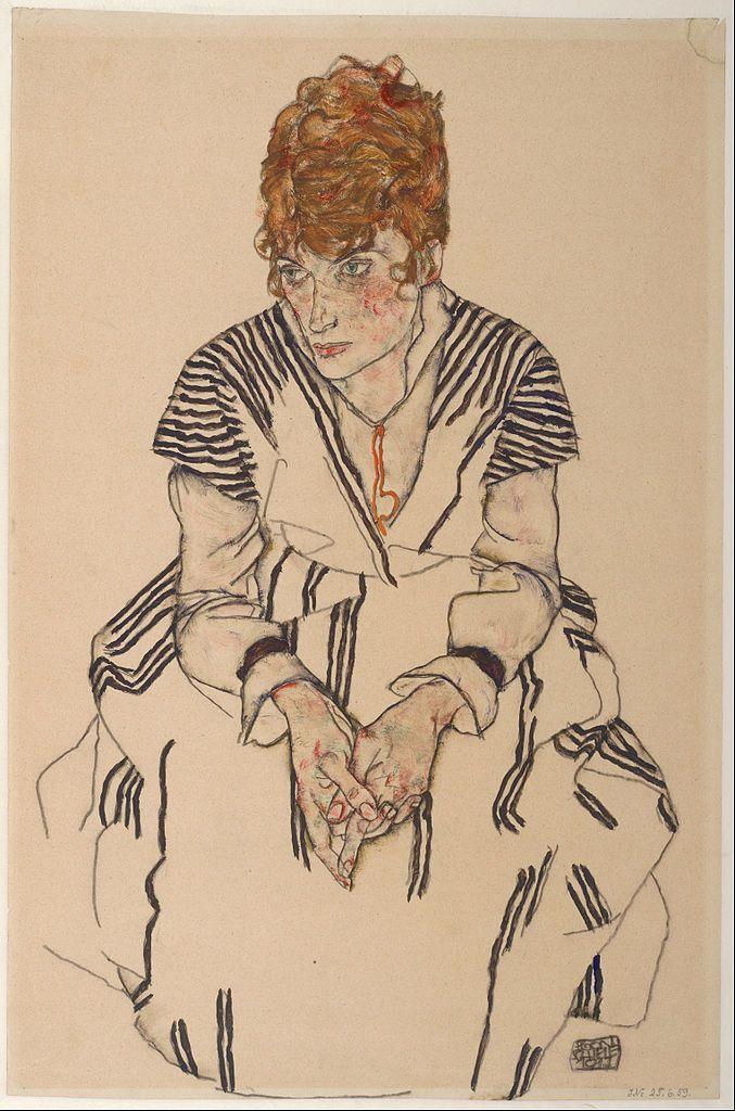 Πορτρέτο της κουνιάδας του καλλιτέχνη Adele Harms (1917) Μουσείο της Αλμπερτίνα στην Βιέννη