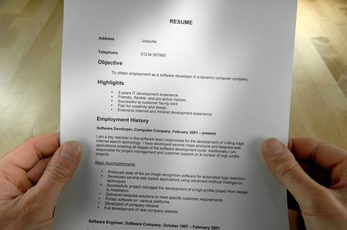 Sections of a Resume Examples: Formatted Resume Example