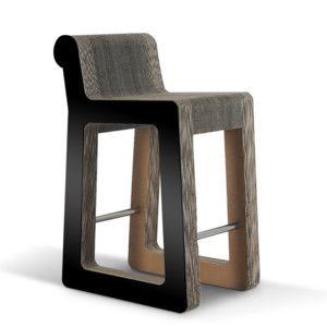 Barová kartonová židle Knob Stool Black