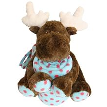 """Honey Bunny Cuddly moose and blanket - Blue - Abond Corp. - Babies""""R""""Us"""