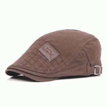 Men Women Patch Embroidered Cotton Beret Hat Casual Outdoor Sunshade Cabbie Cap Adjustable at Banggood