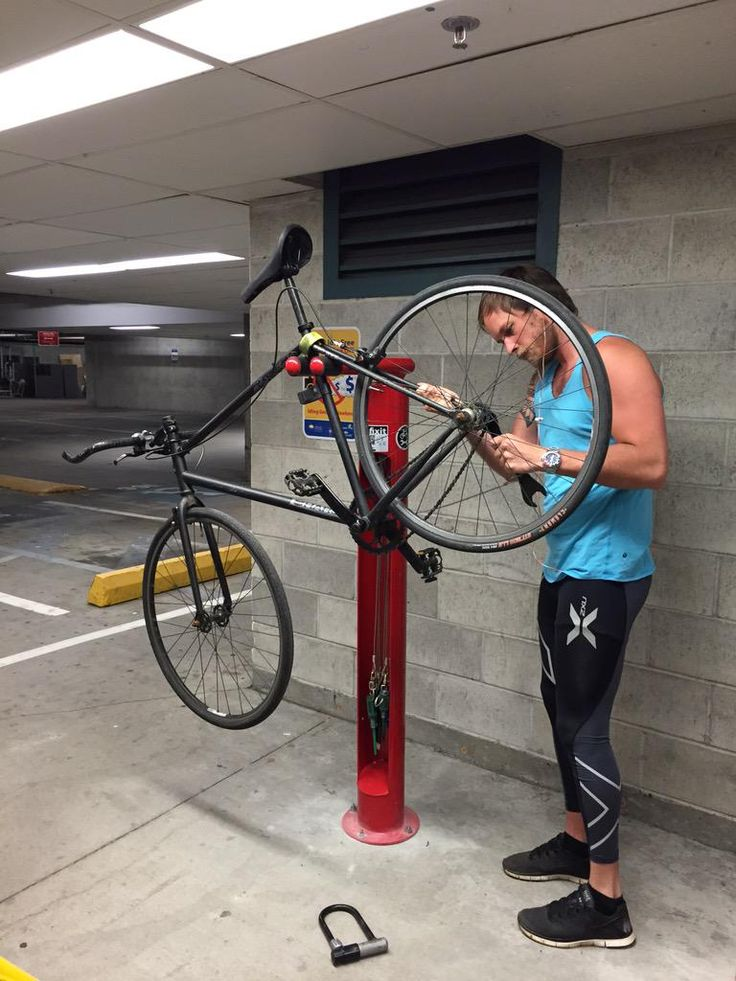 Gearing up for summer, need last min repairs? Use our Fixit bike repair station! #cycling #fixit