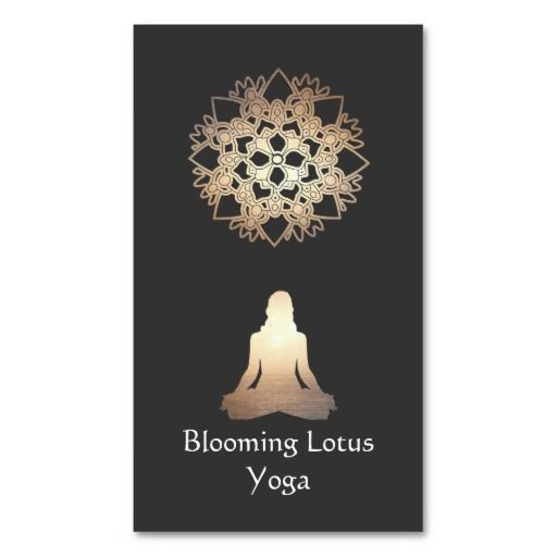 305 best yoga business card templates images on pinterest business yoga meditation pose gold lotus business card reheart Choice Image