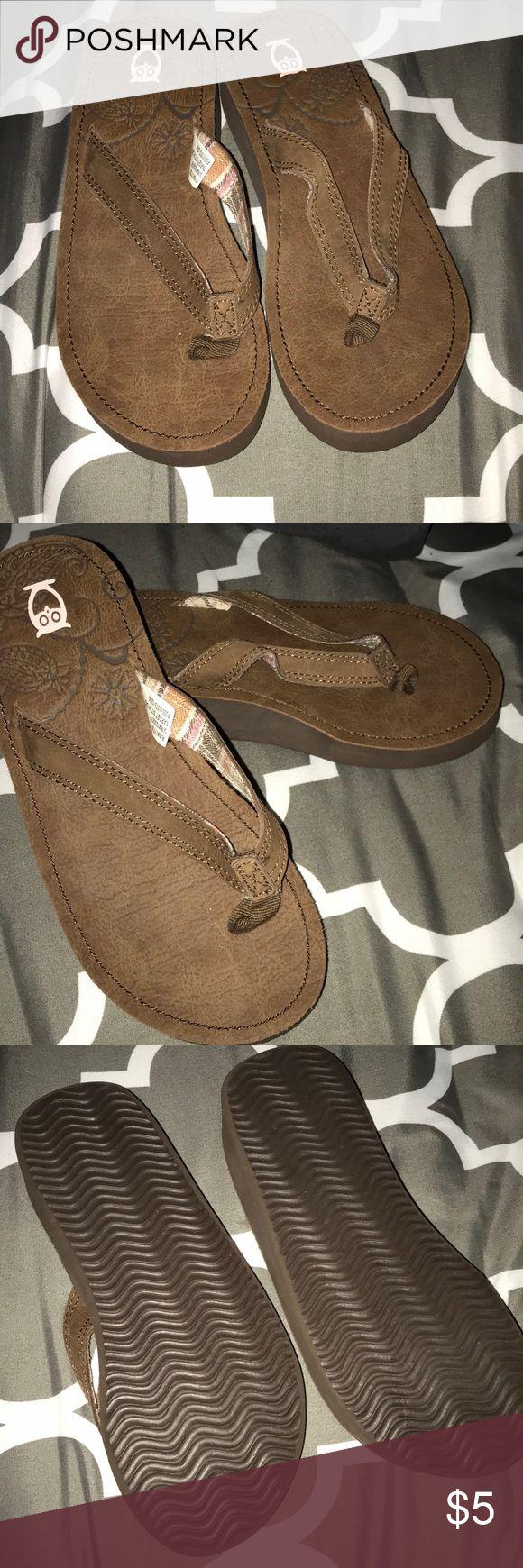 Light brown flip flops Light brown flip flops Shoes Sandals