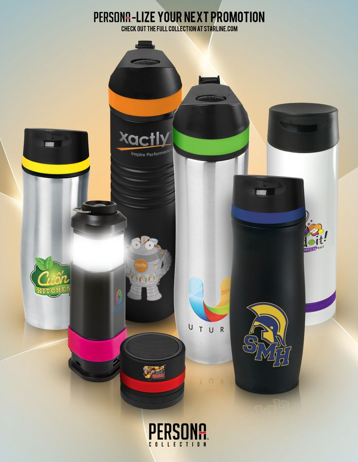 Vacuum tumblers, vacuum water bottles, bluetooth speaker and flashlight/power pack, the Persona collection has something to fit your promotion.