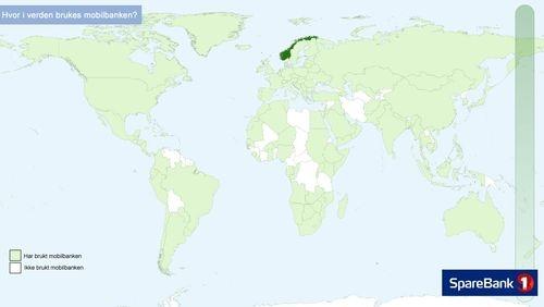 I hvilke land har dere brukt mobilbanken Vet du?