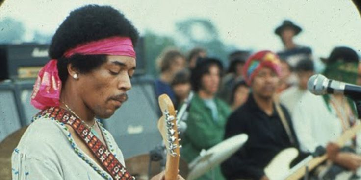 """jimi hendrix woodstock 1969 - One of Marshall's greatest ambassadors, Jimi Hendrix made history with his legendary 1969 performance at Woodstock.  According to Hendrix, """"Meeting Jim was beyond groovy for me. It was such a relief to talk to someone who knows and cares about sound. I love my Marshall Amps; I am nothing without them!"""""""
