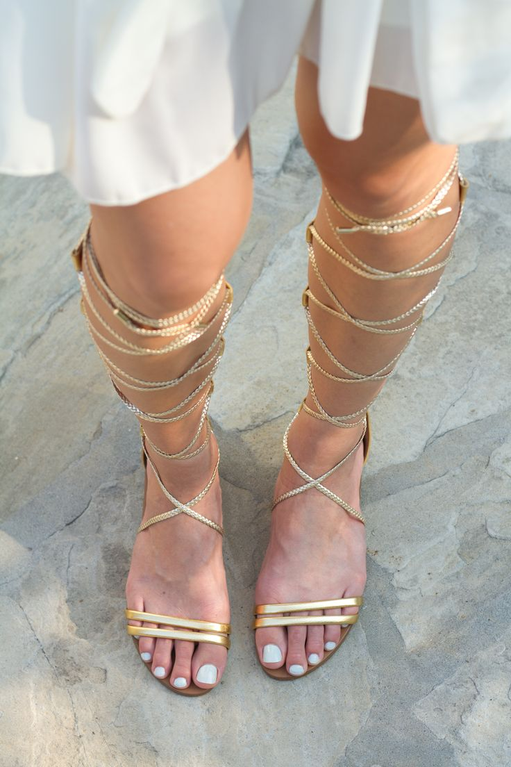Tall gold gladiator sandals - aldo
