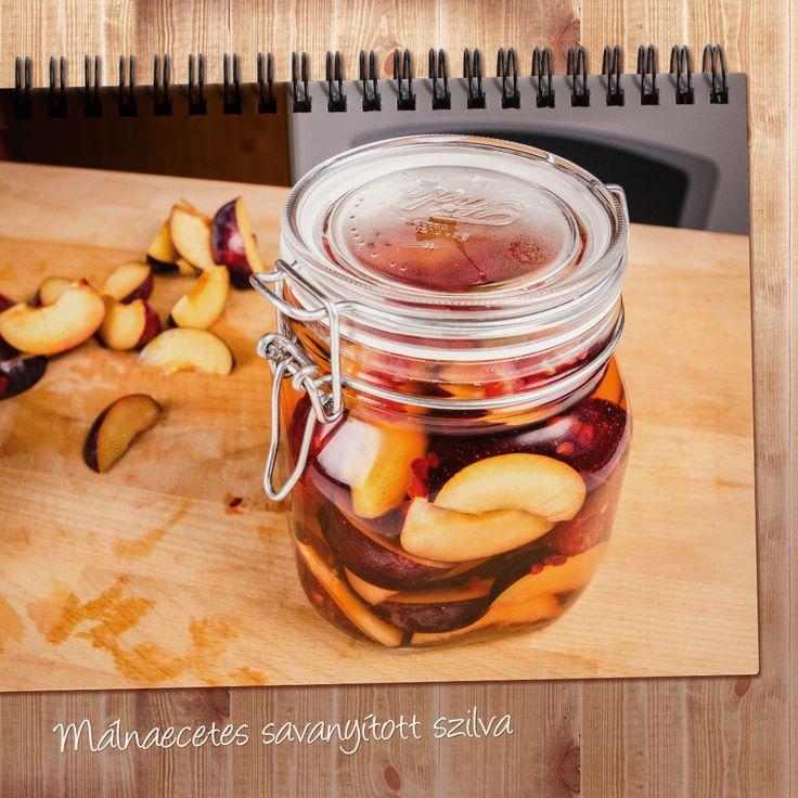 Ettél már málnaecetes savanyított szilvát? Készítsd el és télen imádni fogod! :) #befozes #recept #szilva #malnaecet