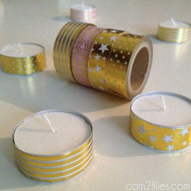 masking tape - bougies chauffe plat noel