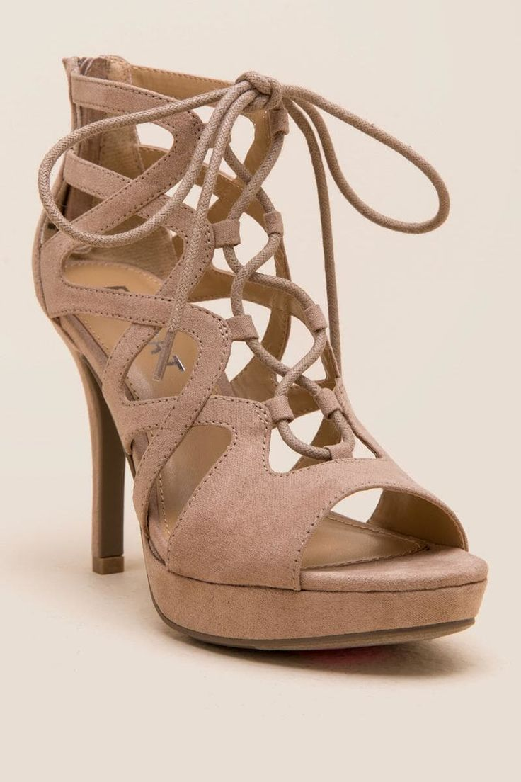 Report Laxy Lace Up Heel