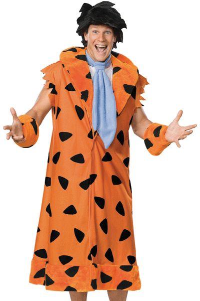 Fred Flintstone kostuum voor heren. Compleet pluche Fred Flintstone kostuum. Het Flintstone kostuum bestaat uit een jas, polsbanden, pruik en schoen covers. Carnavalskleding 2015 #carnaval