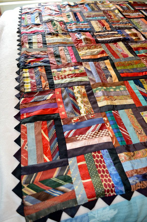 Vintage Necktie Quilt by HighClassHighway on Etsy, $60.00