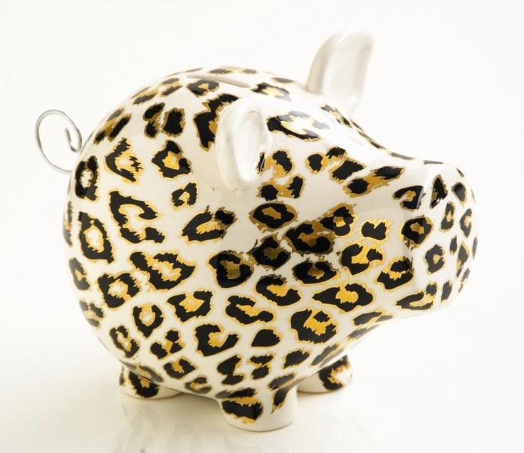 Spaarvarken Leopard van Salt & Pepper