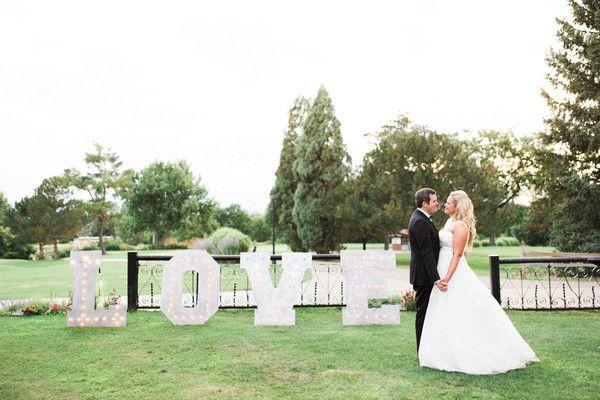 A giant LOVE sign {Sarah Tribett Photography}