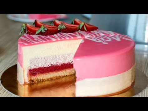 Муссовый клубничный торт | Mousse Strawberry Cake - YouTube