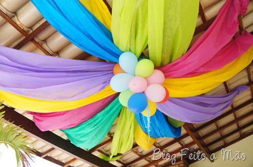 Decoração em TNT: Decor, Ideas, Decor Ideas, Party Decoration, Decorating Parties