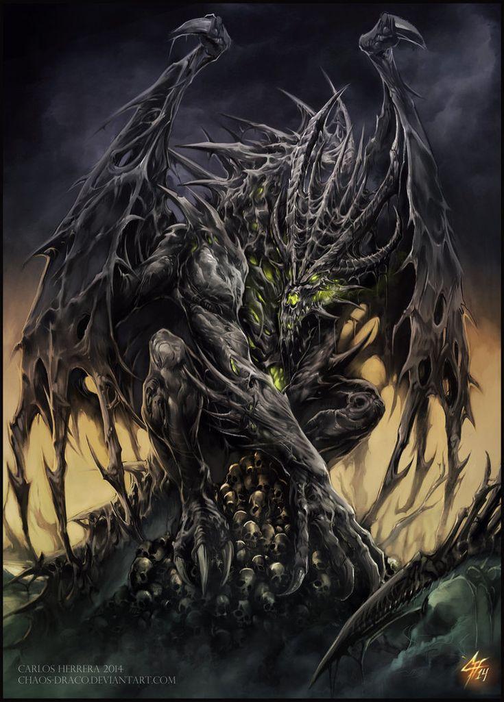 Necrotic Dragon Elder by Chaos-Draco on deviantART