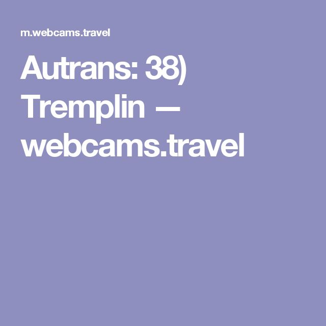 Autrans: 38) Tremplin — webcams.travel