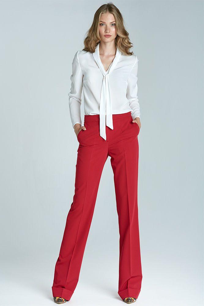 Sd21 Bootcut Rouge Nife Habillé Tailleur Pantalon De Noir Fr Femme 6Txqw8