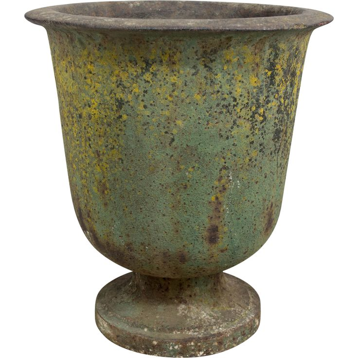 19th c. French Cast Iron Urn  found at www.rubylane.com @rubylanecom