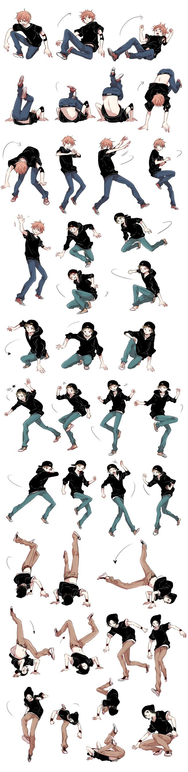 (Not my art) this has the possibility to be used, not just for dance positions, but also combat.