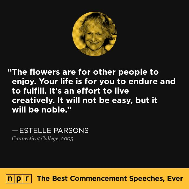 Estelle Parsons, 2005. From NPR's The Best Commencement Speeches, Ever.