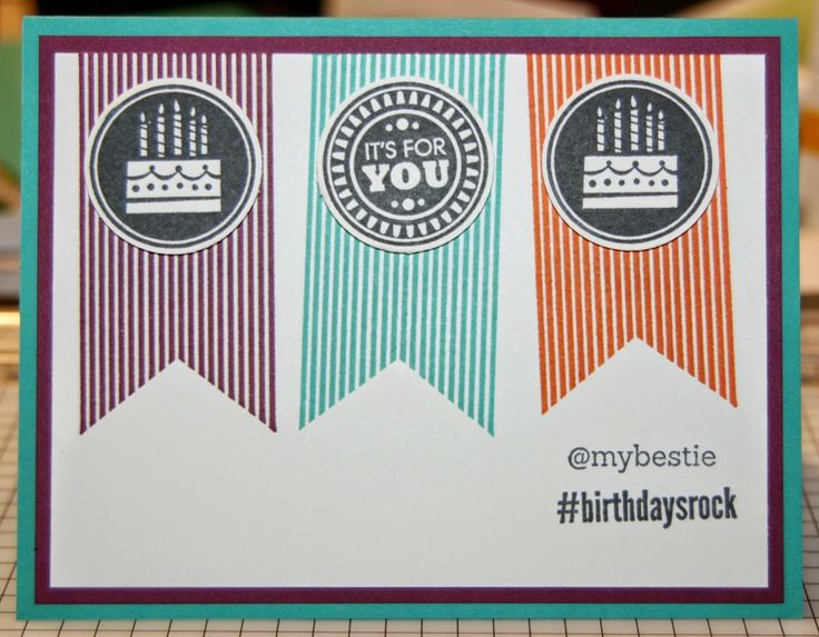 Stylin' Stampin' INKspiration: August Card Sketch, Kim Ryden, Stampin' Up!, Amazing Birthday, @SoSocial, #Hello