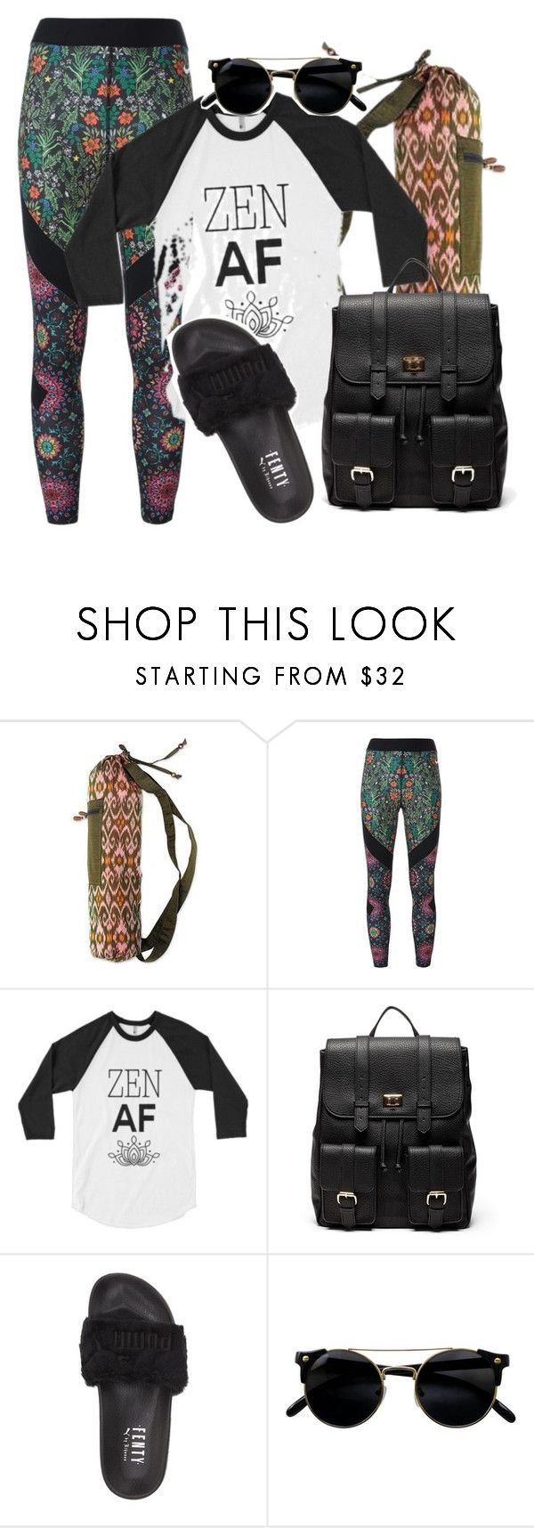 """yoga session.."" by evitaom on Polyvore featuring NOVICA, NIKE, Sole Society and Puma"