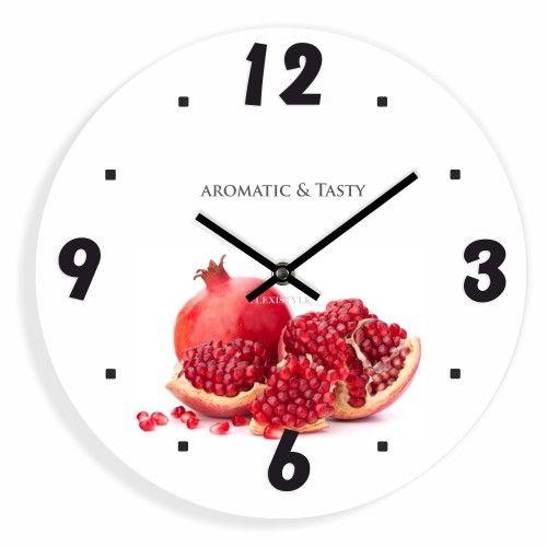 Bílé nástěnné hodiny do kuchyně