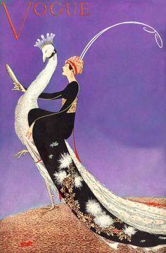 Erte: Vogue cover, April 1918
