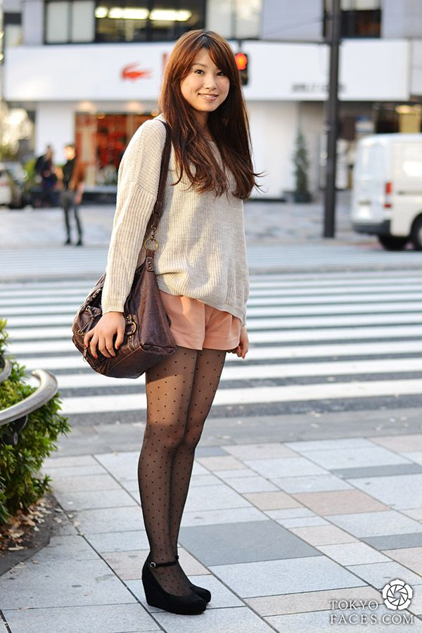 Japanese Female Street Fashion Inspiration Album Pastel Cream And Black Flats