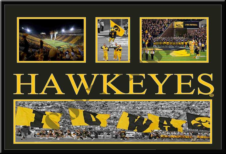 Iowa Hawkeyes Kinnick Stadium Photo Collage With Team