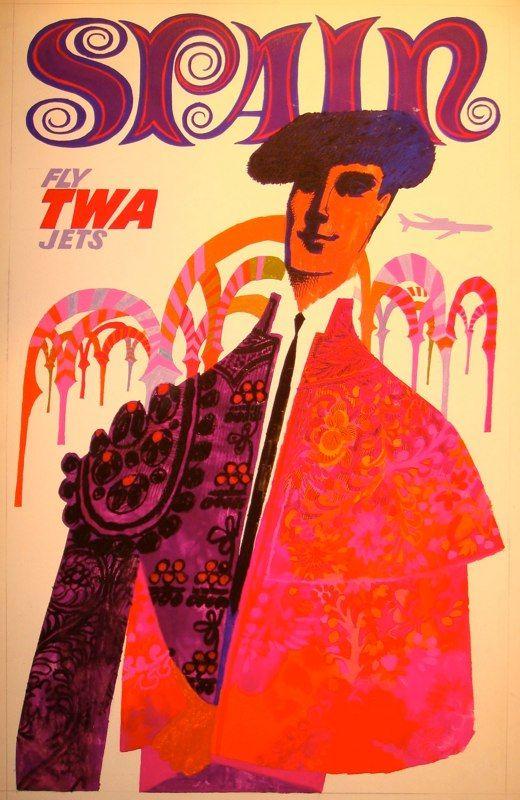 TWA Travel Poster - Spain